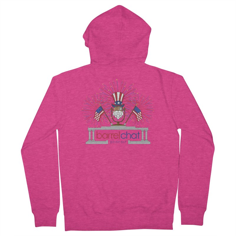 Barrel Chat - 4th of July Women's French Terry Zip-Up Hoody by Hopped Up Network's Artist Shop