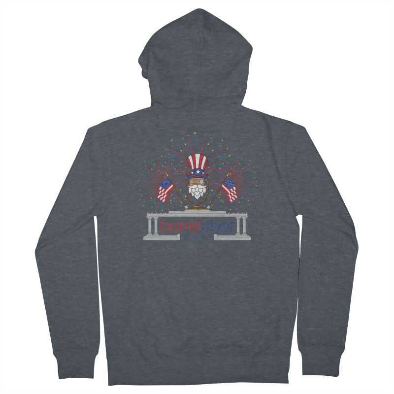 Barrel Chat - 4th of July Men's French Terry Zip-Up Hoody by Hopped Up Network's Artist Shop