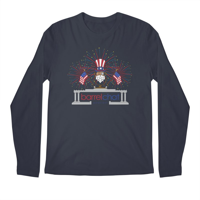 Barrel Chat - 4th of July Men's Longsleeve T-Shirt by Hopped Up Network's Artist Shop