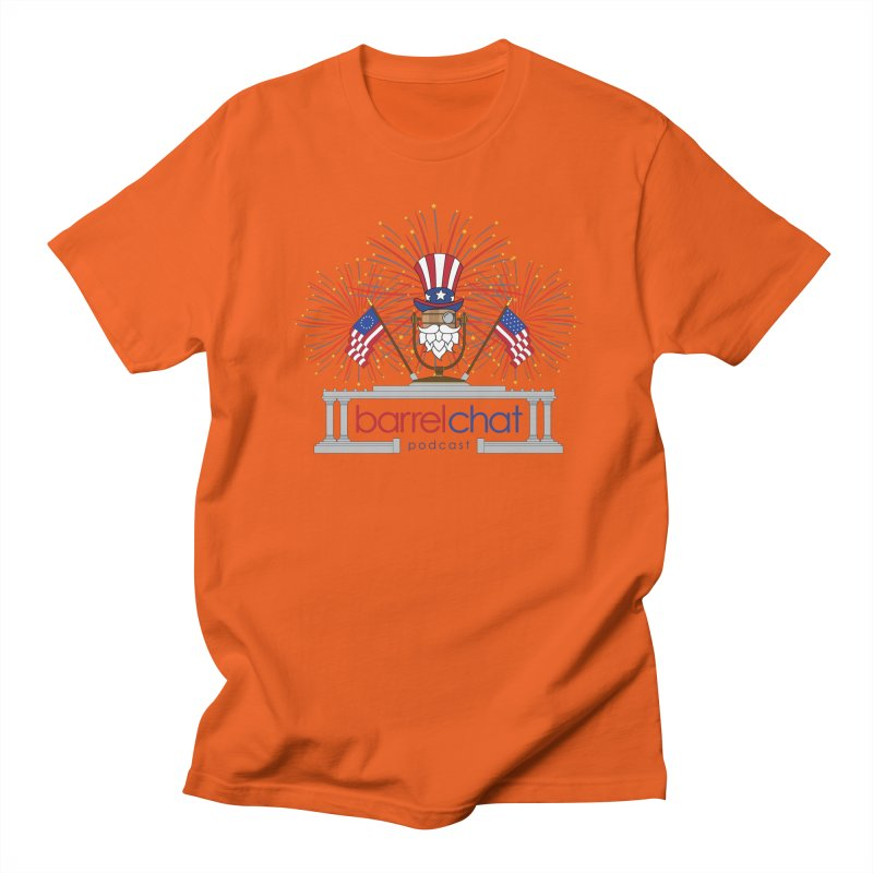 Barrel Chat - 4th of July Men's T-Shirt by Hopped Up Network's Artist Shop