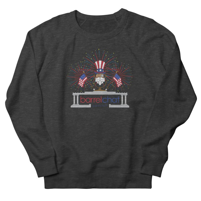 Barrel Chat - 4th of July Men's French Terry Sweatshirt by Hopped Up Network's Artist Shop