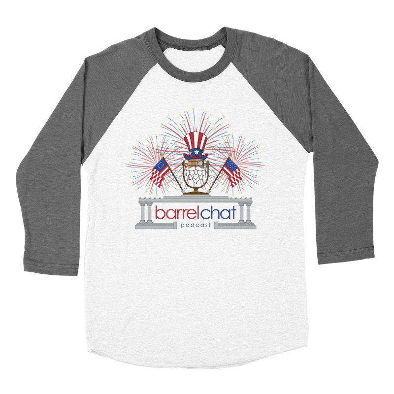 Barrel Chat - 4th of July Men's Baseball Triblend T-Shirt by Hopped Up Network's Artist Shop