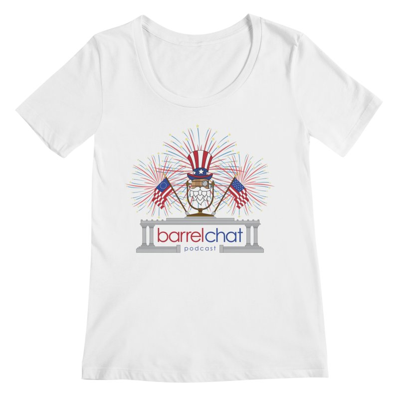 Barrel Chat - 4th of July Women's Scoopneck by Hopped Up Network's Artist Shop