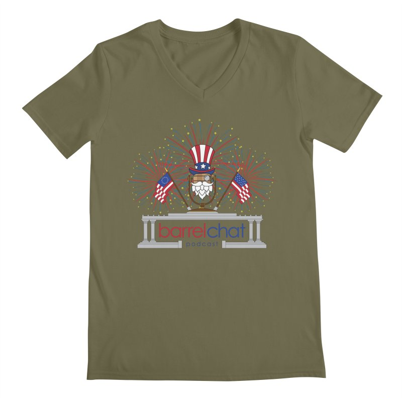 Barrel Chat - 4th of July Men's V-Neck by Hopped Up Network's Artist Shop
