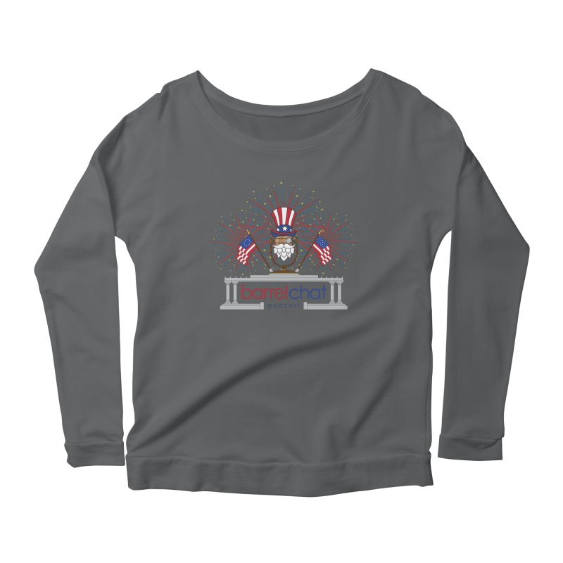 Barrel Chat - 4th of July Women's Scoop Neck Longsleeve T-Shirt by Hopped Up Network's Artist Shop