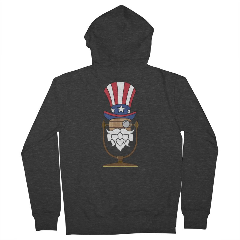 Barrel Chat - 4th of July Hoppy Women's French Terry Zip-Up Hoody by Hopped Up Network's Artist Shop