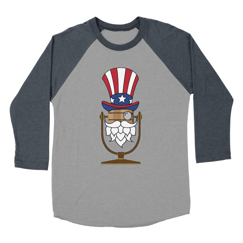Barrel Chat - 4th of July Hoppy Men's Baseball Triblend Longsleeve T-Shirt by Hopped Up Network's Artist Shop