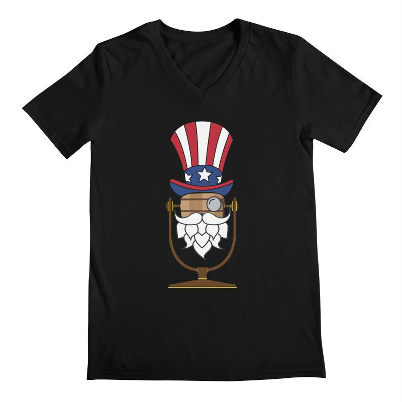 Barrel Chat - 4th of July Hoppy Men's V-Neck by Hopped Up Network's Artist Shop