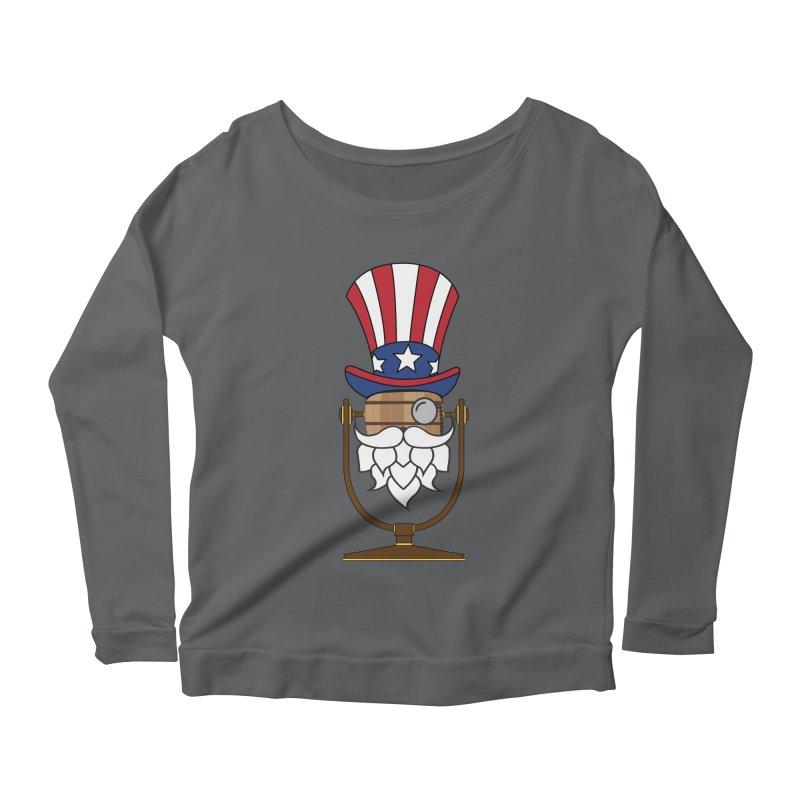 Barrel Chat - 4th of July Hoppy Women's Scoop Neck Longsleeve T-Shirt by Hopped Up Network's Artist Shop