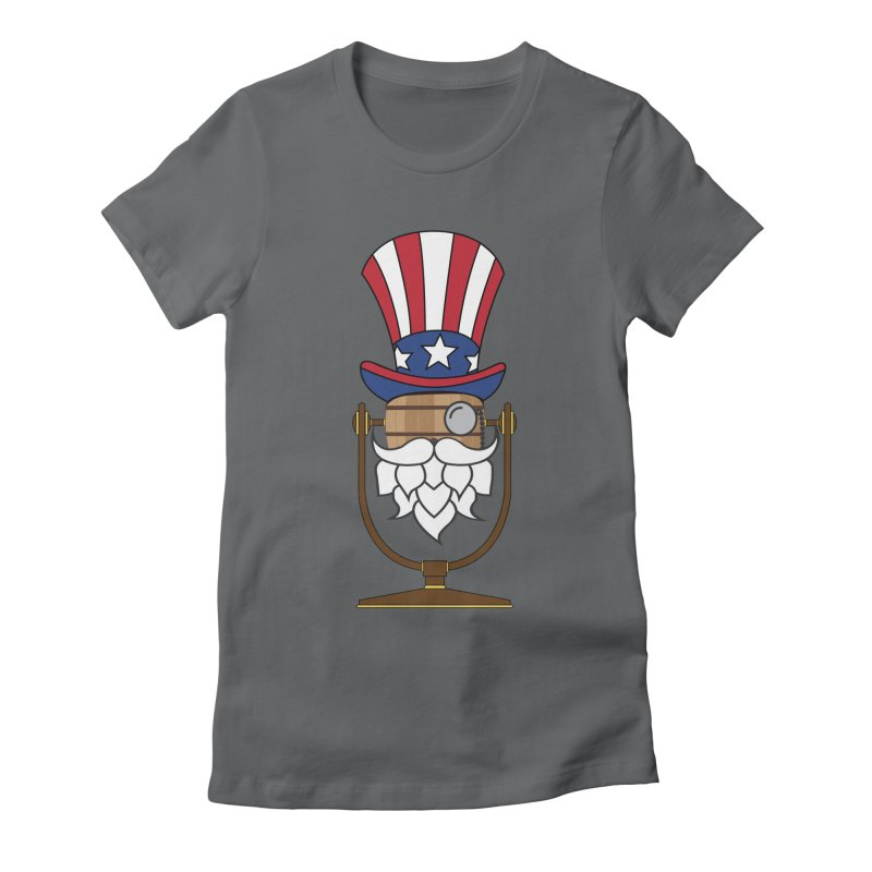 Barrel Chat - 4th of July Hoppy Women's Fitted T-Shirt by Hopped Up Network's Artist Shop