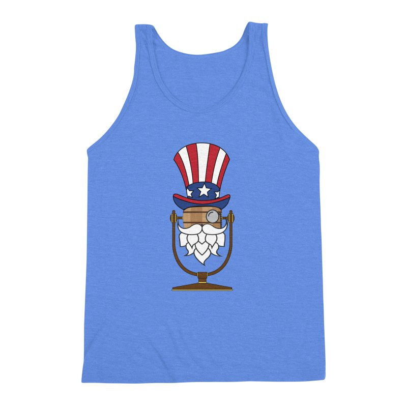 Barrel Chat - 4th of July Hoppy Men's Triblend Tank by Hopped Up Network's Artist Shop