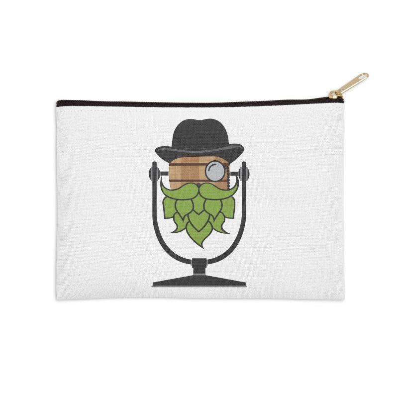 Barrel Chat - Hoppy Accessories Zip Pouch by Hopped Up Network's Artist Shop