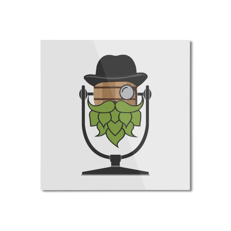 Barrel Chat - Hoppy Home Mounted Aluminum Print by Hopped Up Network's Artist Shop