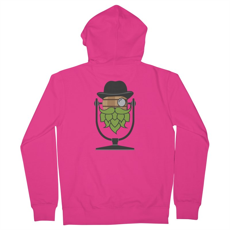 Barrel Chat - Hoppy Men's French Terry Zip-Up Hoody by Hopped Up Network's Artist Shop