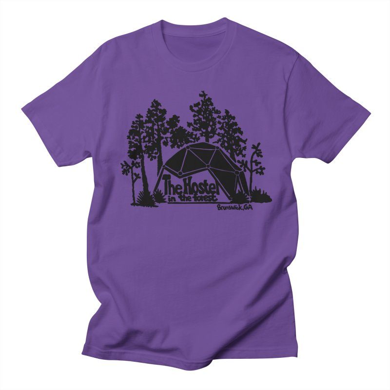 Hostel In The Forest Dome Logo white background Men's T-Shirt by Hostel in the Forest