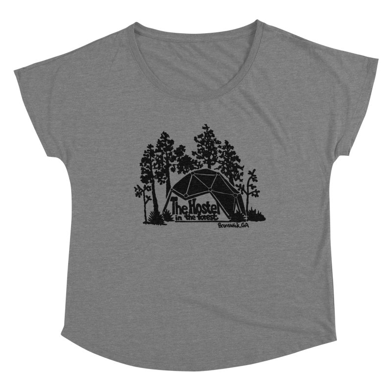 Hostel In The Forest Dome Logo, on a clear background Women's Scoop Neck by Hostel in the Forest