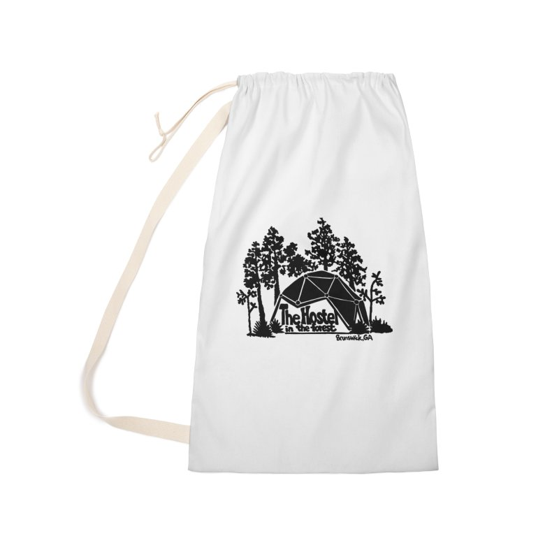 Hostel In The Forest Dome Logo white background Accessories Bag by Hostel in the Forest