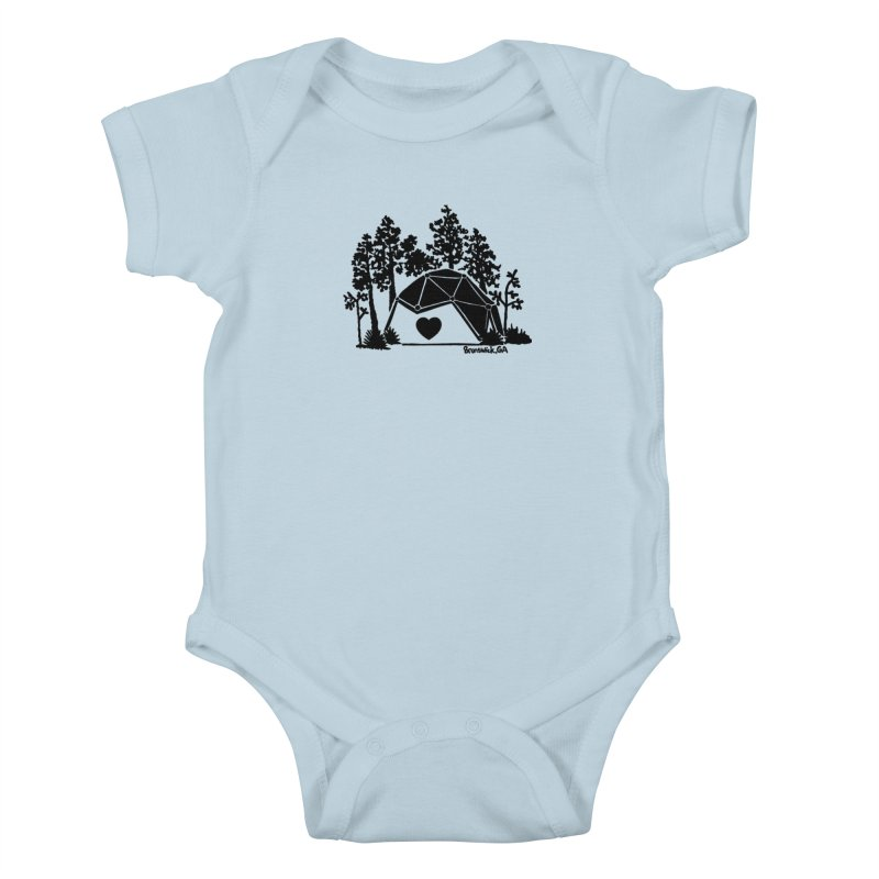 Hostel in the Forest Dome Heart white background Kids Baby Bodysuit by Hostel in the Forest