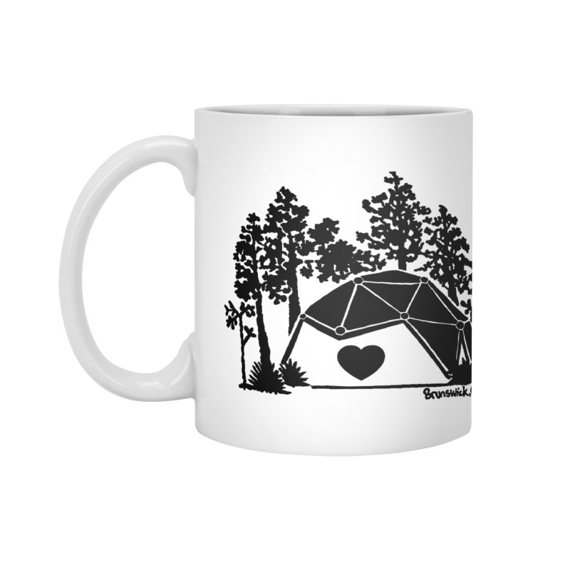 Hostel in the Forest Dome Heart white background Accessories Mug by Hostel in the Forest