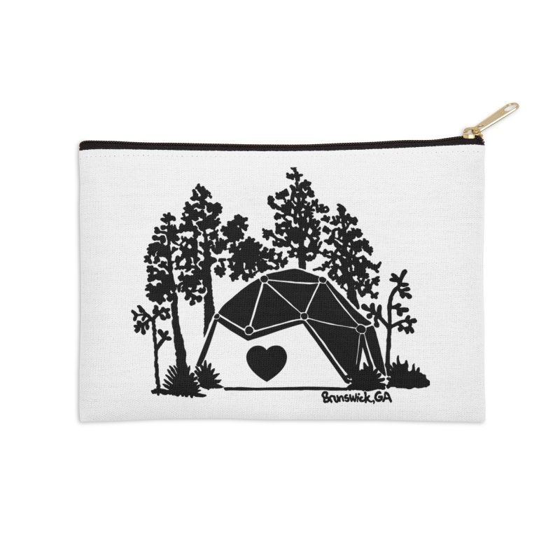 Hostel in the Forest Dome Heart white background Accessories Zip Pouch by Hostel in the Forest