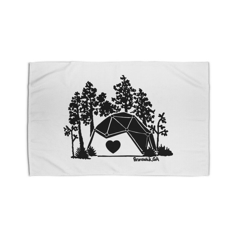 Hostel in the Forest Dome Heart, on a clear background Home Rug by Hostel in the Forest