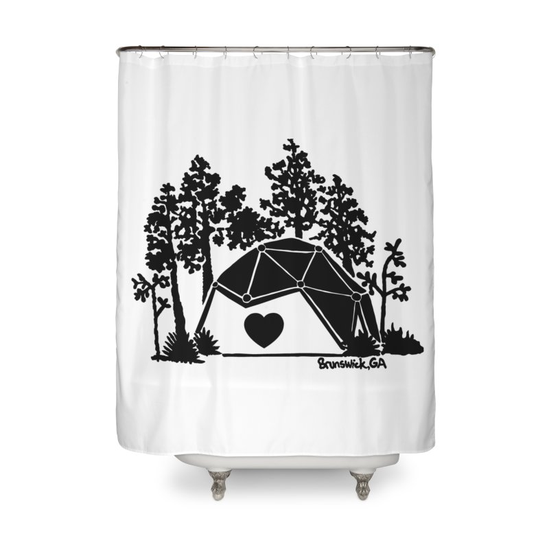 Hostel in the Forest Dome Heart, on a clear background Home Shower Curtain by Hostel in the Forest