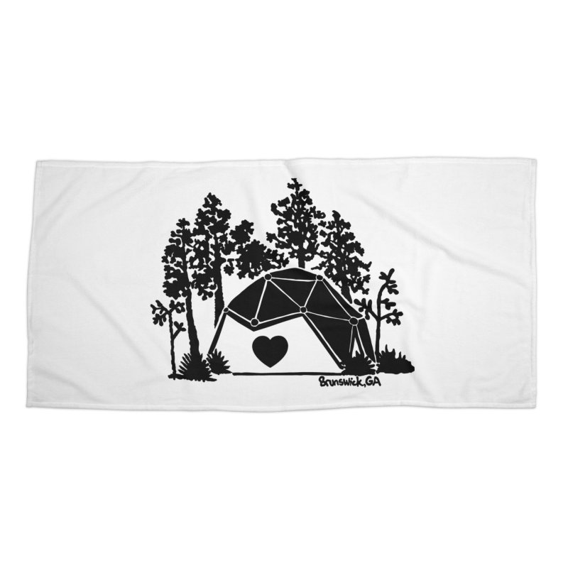 Hostel in the Forest Dome Heart, on a clear background Accessories Beach Towel by Hostel in the Forest