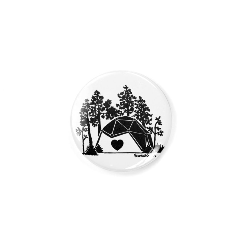 Hostel in the Forest Dome Heart white background Accessories Button by Hostel in the Forest