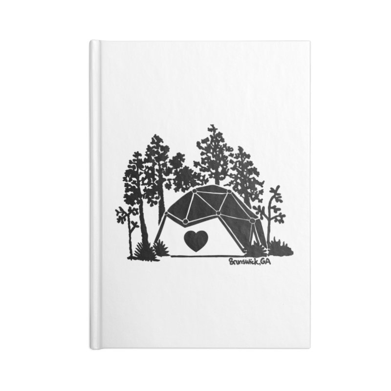 Hostel in the Forest Dome Heart white background Accessories Notebook by Hostel in the Forest