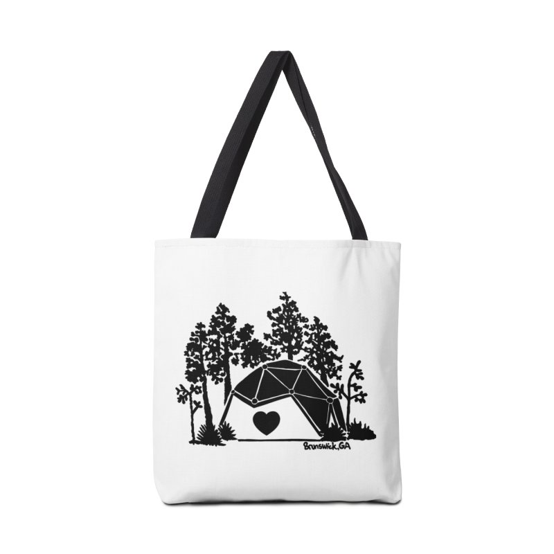 Hostel in the Forest Dome Heart white background Accessories Bag by Hostel in the Forest