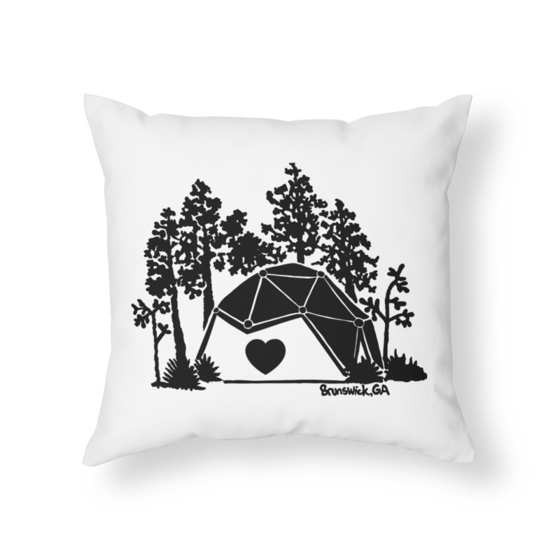 Hostel in the Forest Dome Heart, on a clear background Home Throw Pillow by Hostel in the Forest