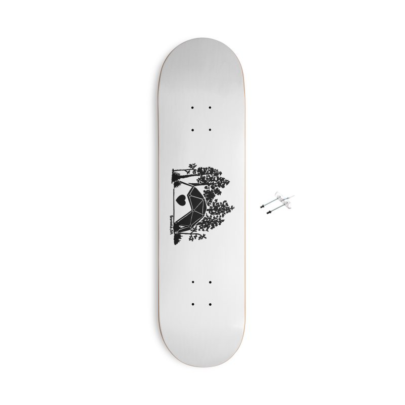 Hostel in the Forest Dome Heart white background Accessories Skateboard by Hostel in the Forest