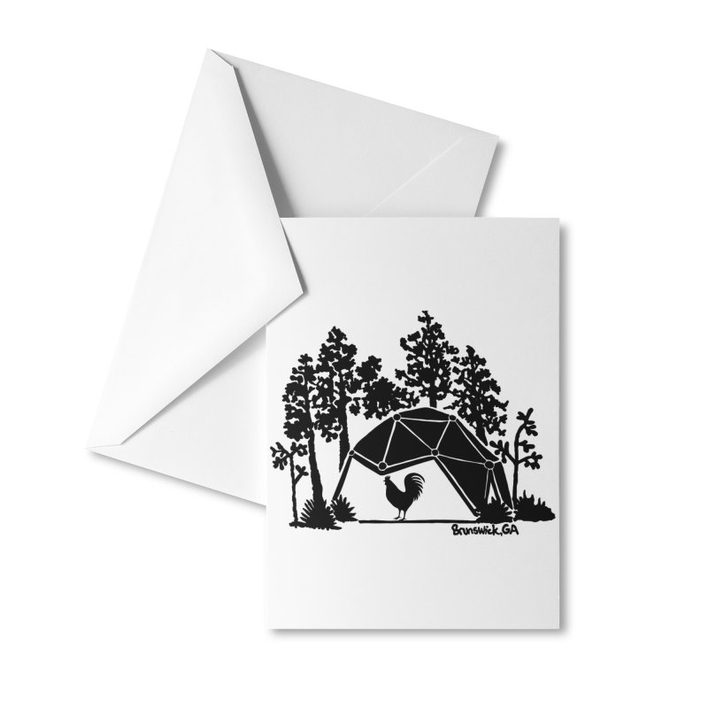 Hostel in the Forest Dome Rooster, on a clear background Accessories Greeting Card by Hostel in the Forest
