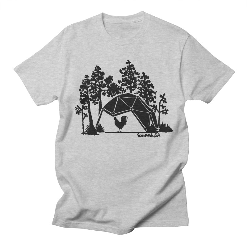 Hostel in the Forest Dome Rooster, on a clear background Men's T-Shirt by Hostel in the Forest
