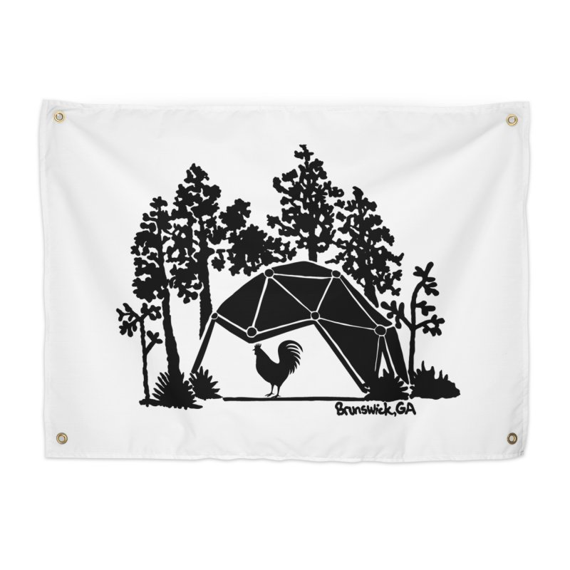 Hostel in the Forest Dome Rooster, on a clear background Home Tapestry by Hostel in the Forest