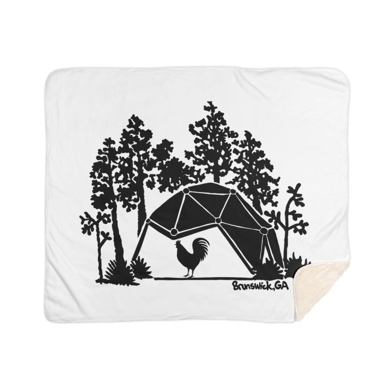 Hostel in the Forest Dome Rooster, on a clear background Home Blanket by Hostel in the Forest
