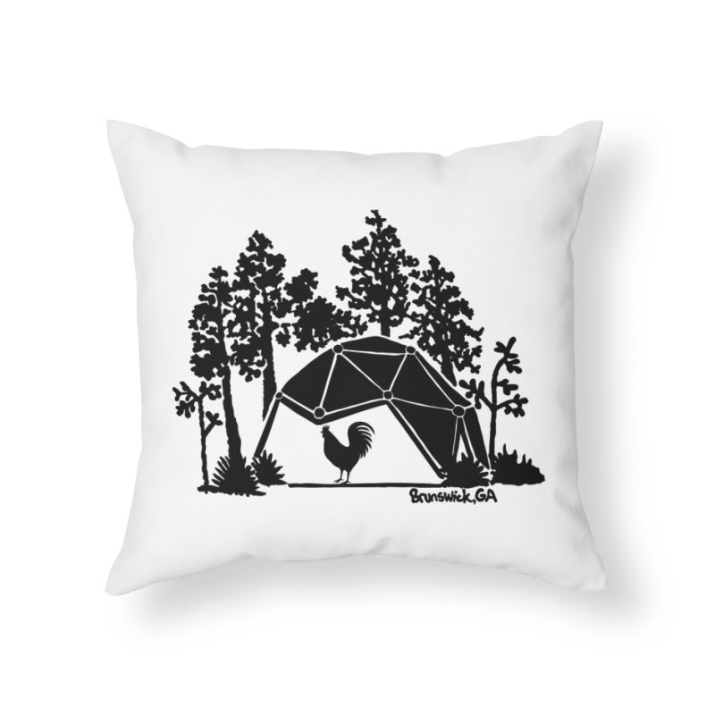 Hostel in the Forest Dome Rooster, on a clear background Home Throw Pillow by Hostel in the Forest