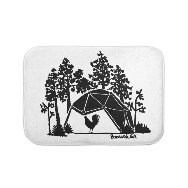Hostel in the Forest Dome Rooster, on a clear background Home Bath Mat by Hostel in the Forest