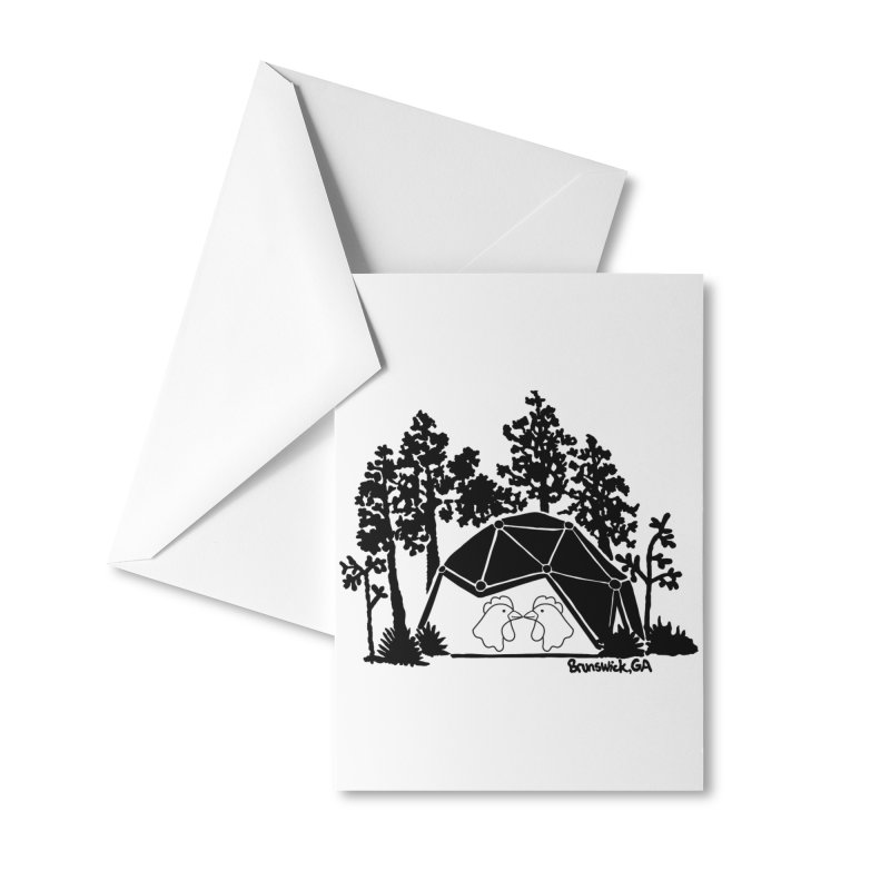 Hostel in the Forest Dome Chickens, on a clear background Accessories Greeting Card by Hostel in the Forest