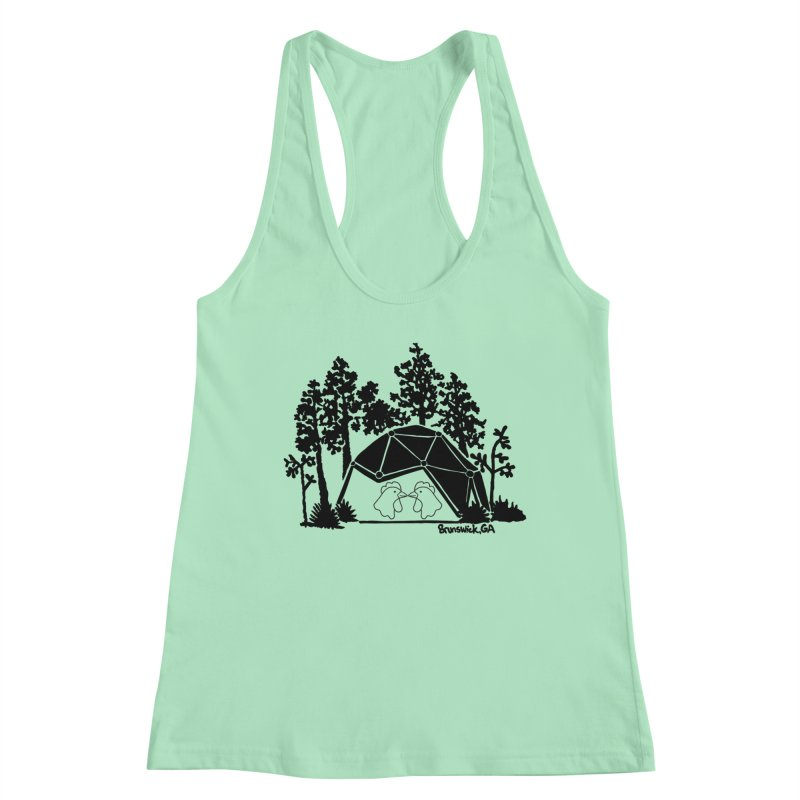 Hostel in the Forest Dome Chickens white background Women's Tank by Hostel in the Forest