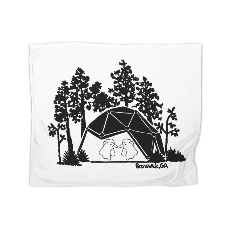 Hostel in the Forest Dome Chickens, on a clear background Home Blanket by Hostel in the Forest