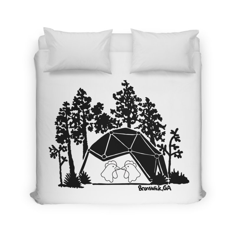 Hostel in the Forest Dome Chickens, on a clear background Home Duvet by Hostel in the Forest