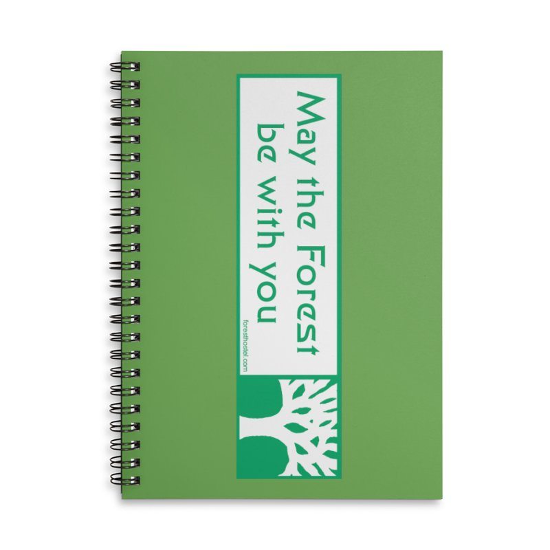 Hostel Bumper Sticker 2.0 for Phone Cases and Notebooks Accessories Notebook by Hostel in the Forest