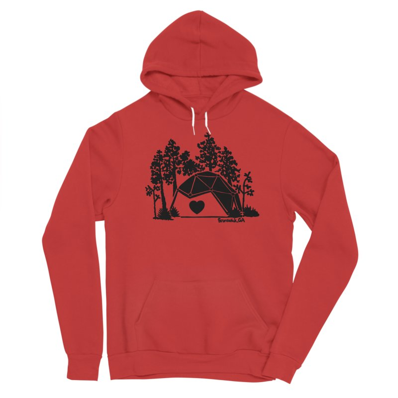 Hostel in the Forest Dome Heart, on a grey background Women's Pullover Hoody by Hostel in the Forest