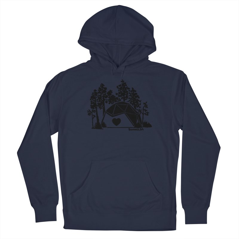 Hostel in the Forest Dome Heart grey background Men's Pullover Hoody by Hostel in the Forest