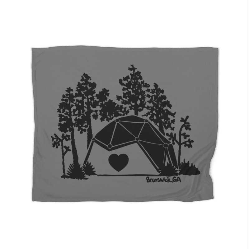 Hostel in the Forest Dome Heart, on a grey background Home Blanket by Hostel in the Forest