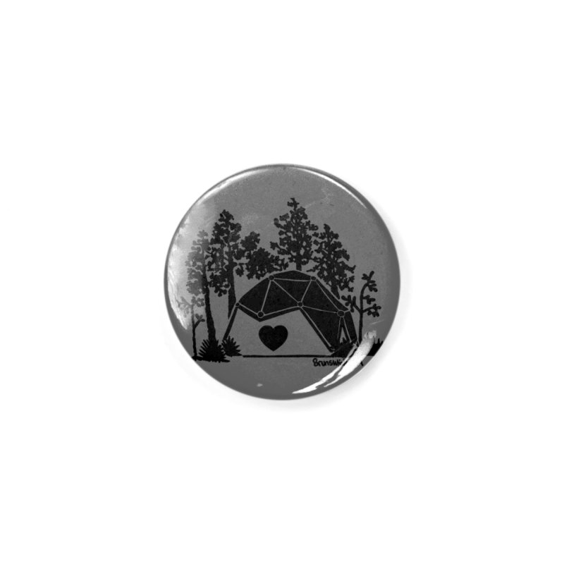 Hostel in the Forest Dome Heart, on a grey background Accessories Button by Hostel in the Forest