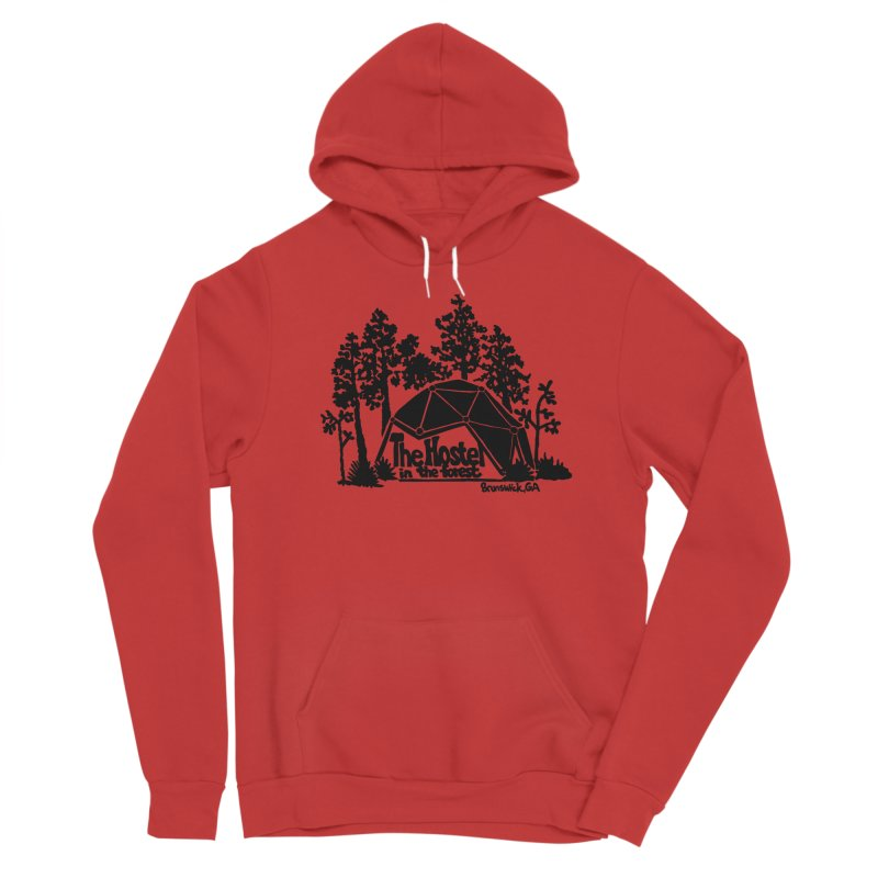 Hostel in the Forest Dome Logo, on a grey background Women's Pullover Hoody by Hostel in the Forest