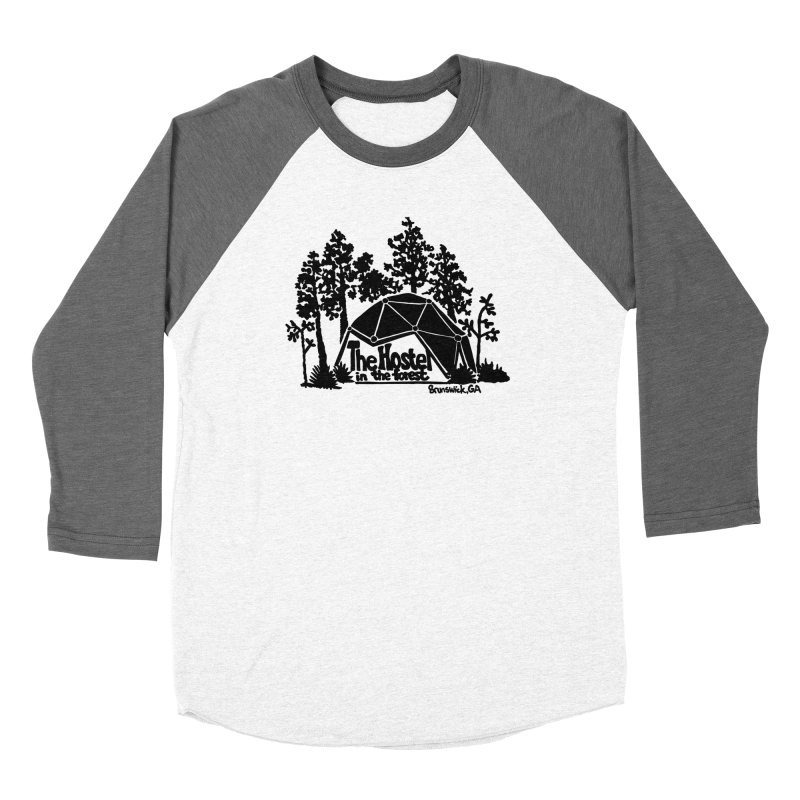 Hostel in the Forest Dome Logo, on a grey background Women's Longsleeve T-Shirt by Hostel in the Forest