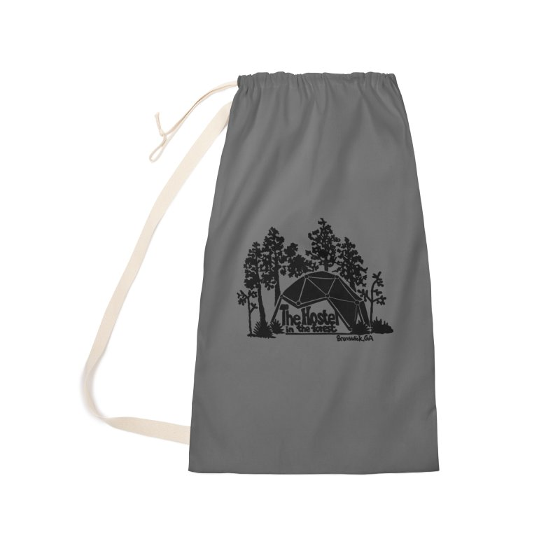 Hostel in the Forest Dome Logo grey background Accessories Bag by Hostel in the Forest
